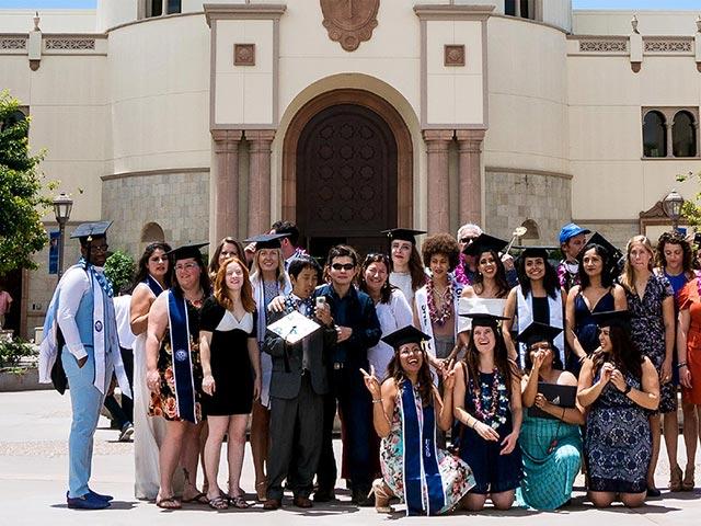 Kroc School Students on Graduation Day